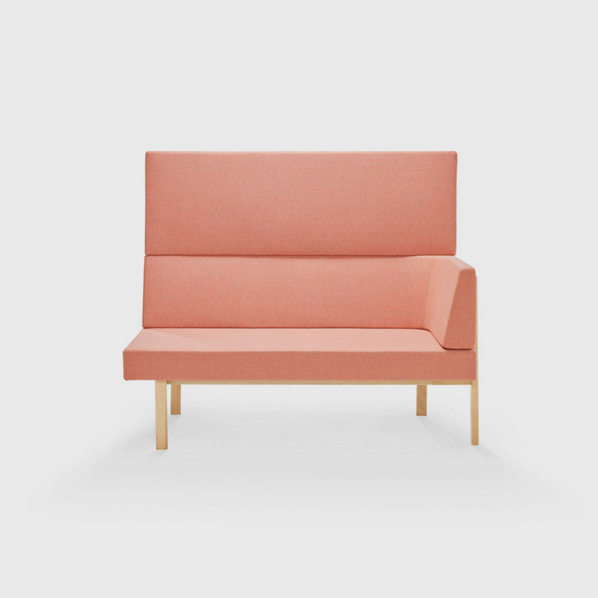Homework Highback Chaise Lounge, Peach