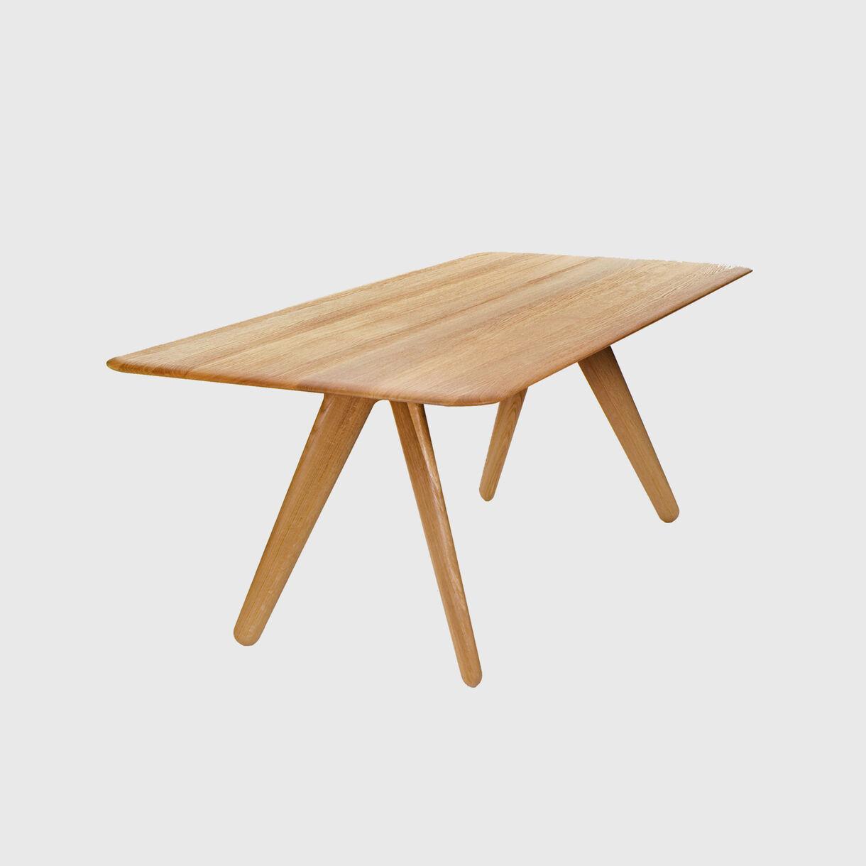 Slab Table, Natural Oak