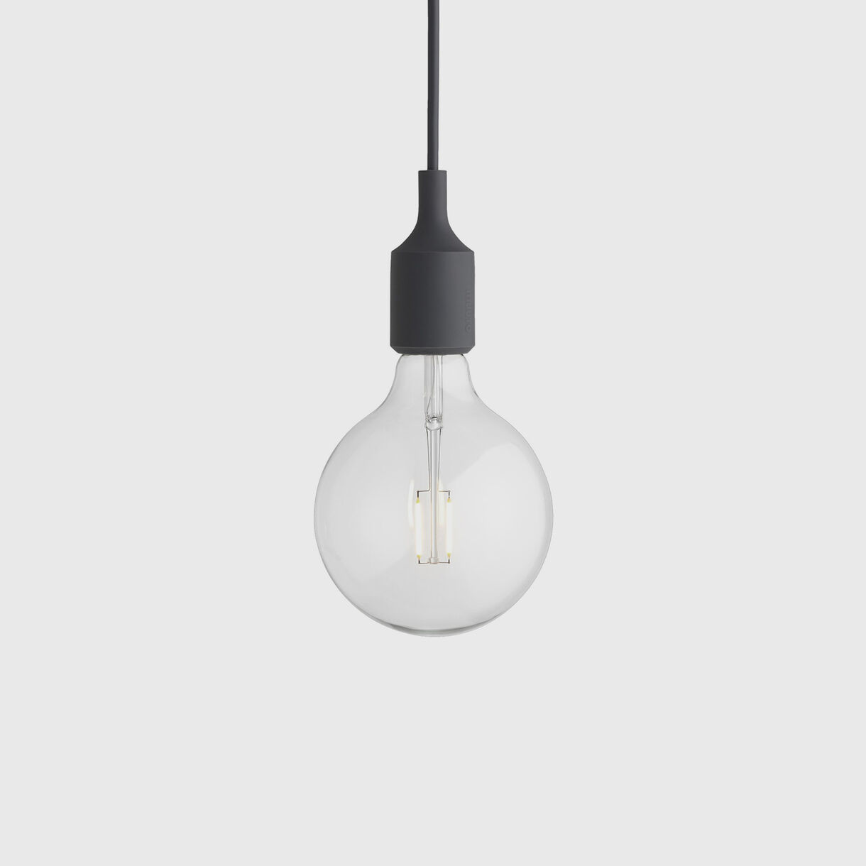 E27 Pendant Lamp, Dark Grey