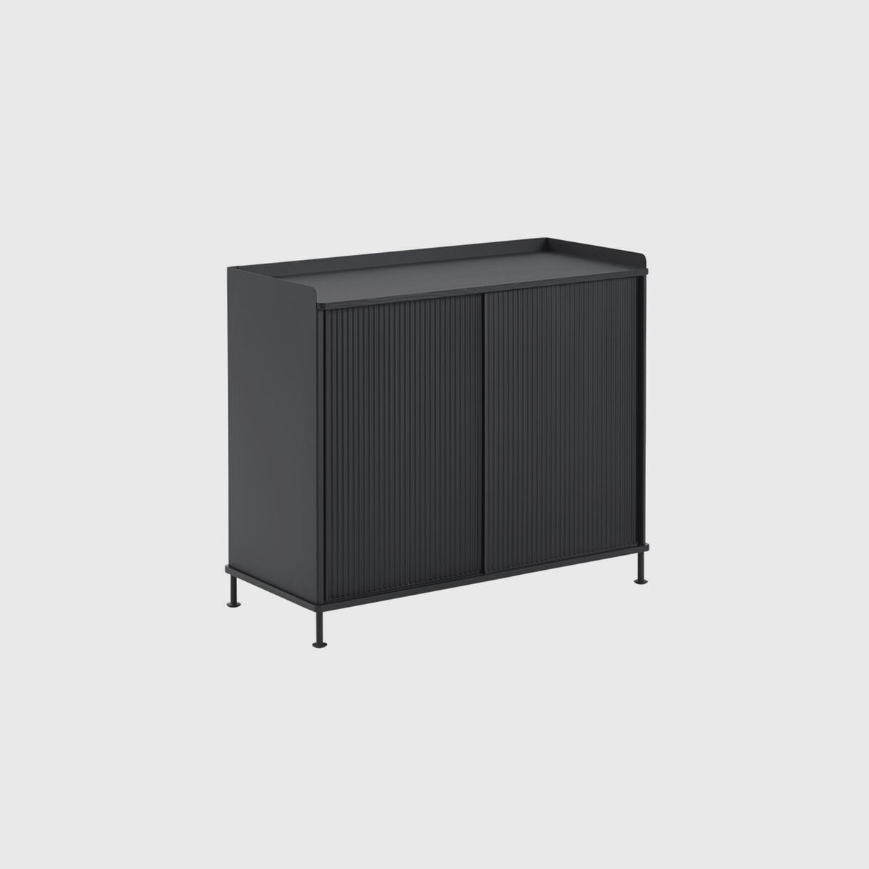 Enfold Sideboard Tall, Black, Side