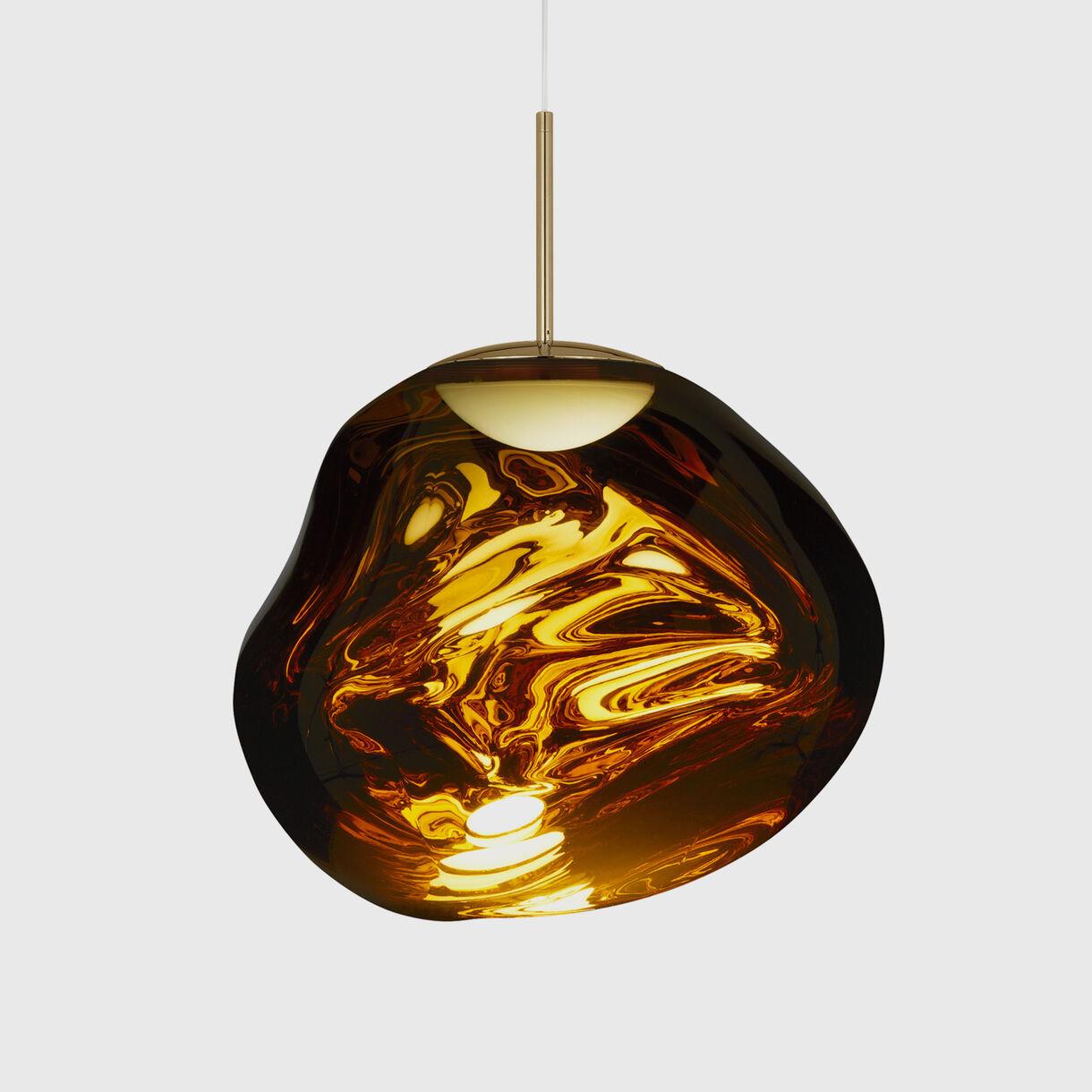 Melt Pendant LED, Gold, On