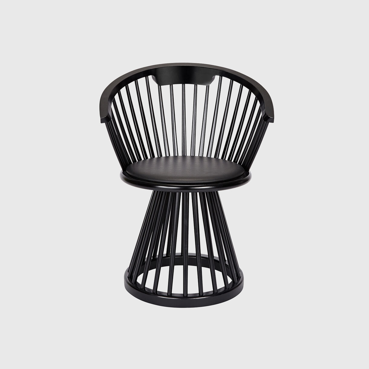 Fan Dining Chair, Black