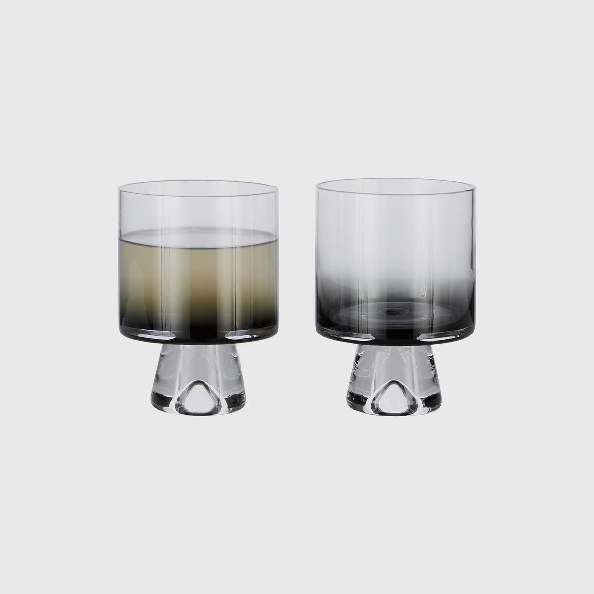 Tank Low Ball Glasses, Black