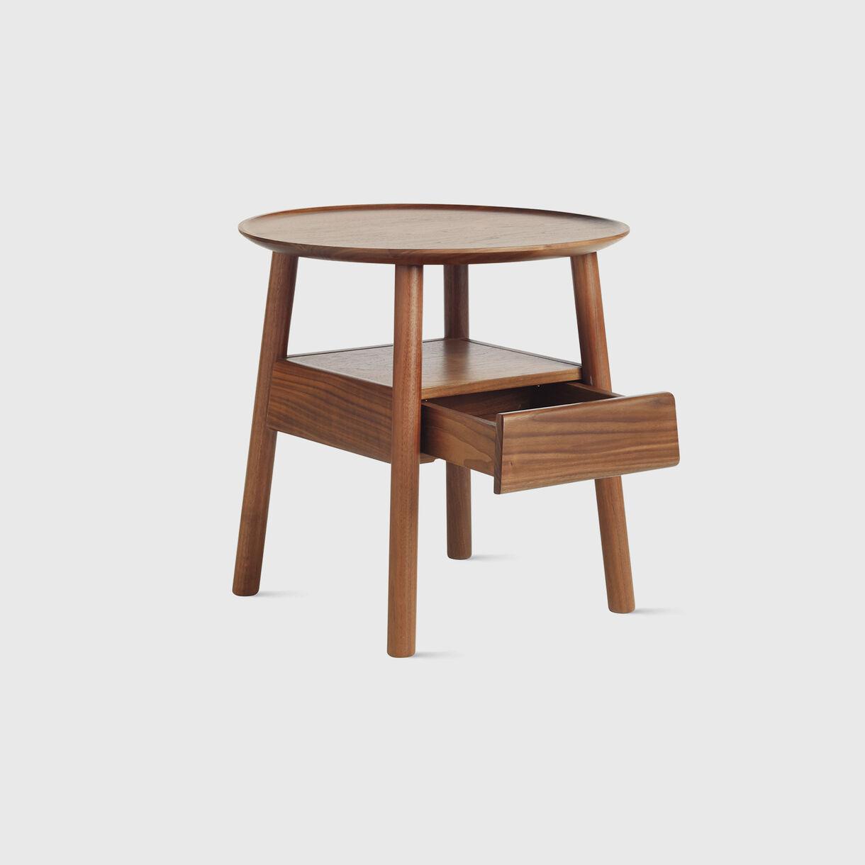 Edge Bedside Table, Walnut