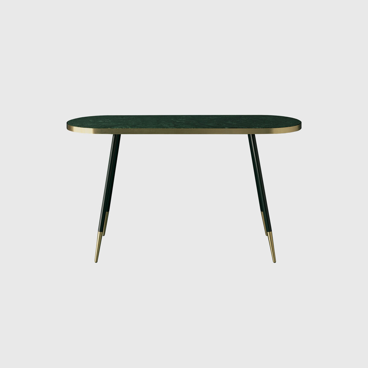 Band Console Table, Verde Marble