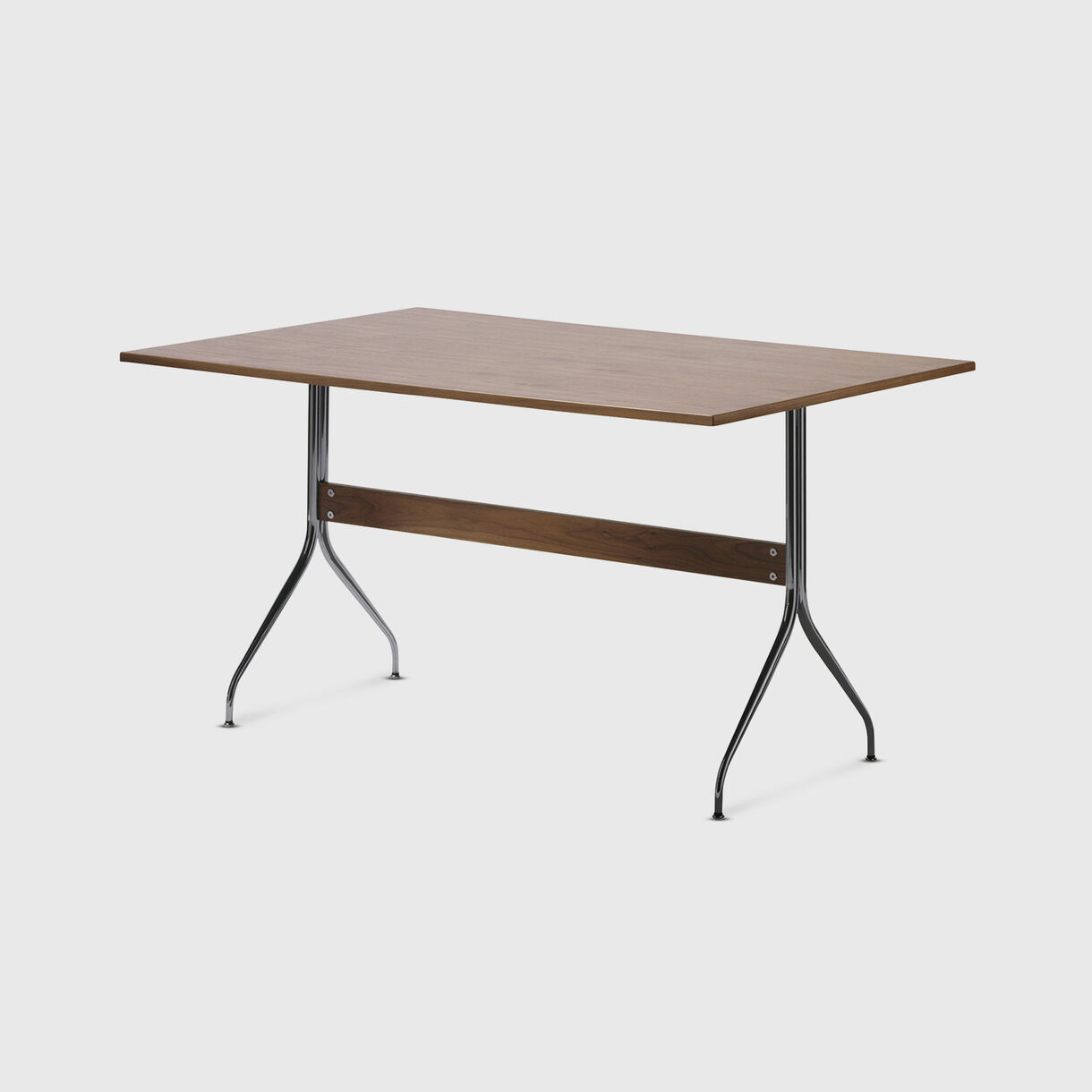 Nelson Swag Leg Work Table, Walnut Top