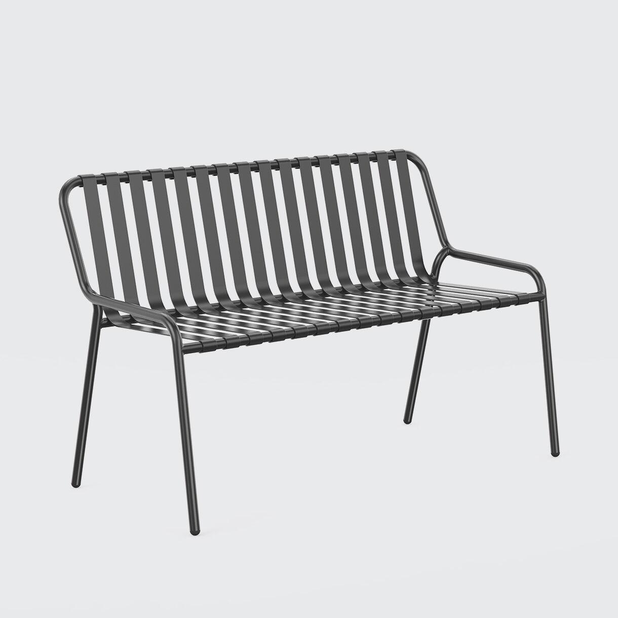 Strap 2 Seater Chair, Black