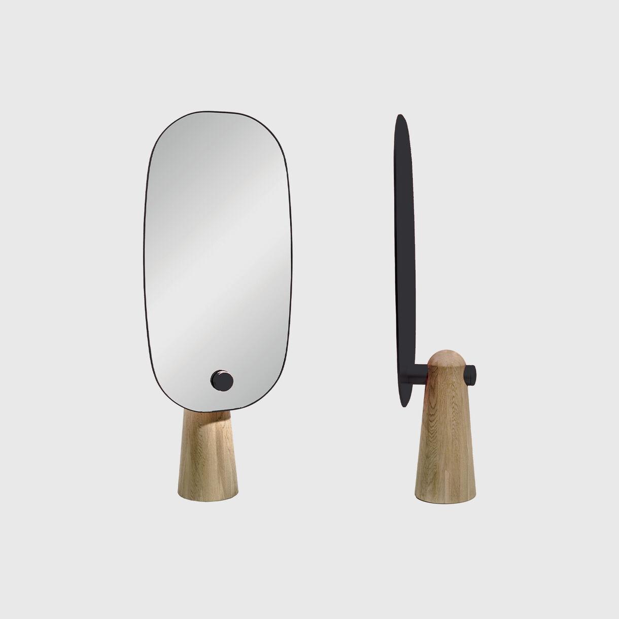 Iconic Standing Mirror, Oak