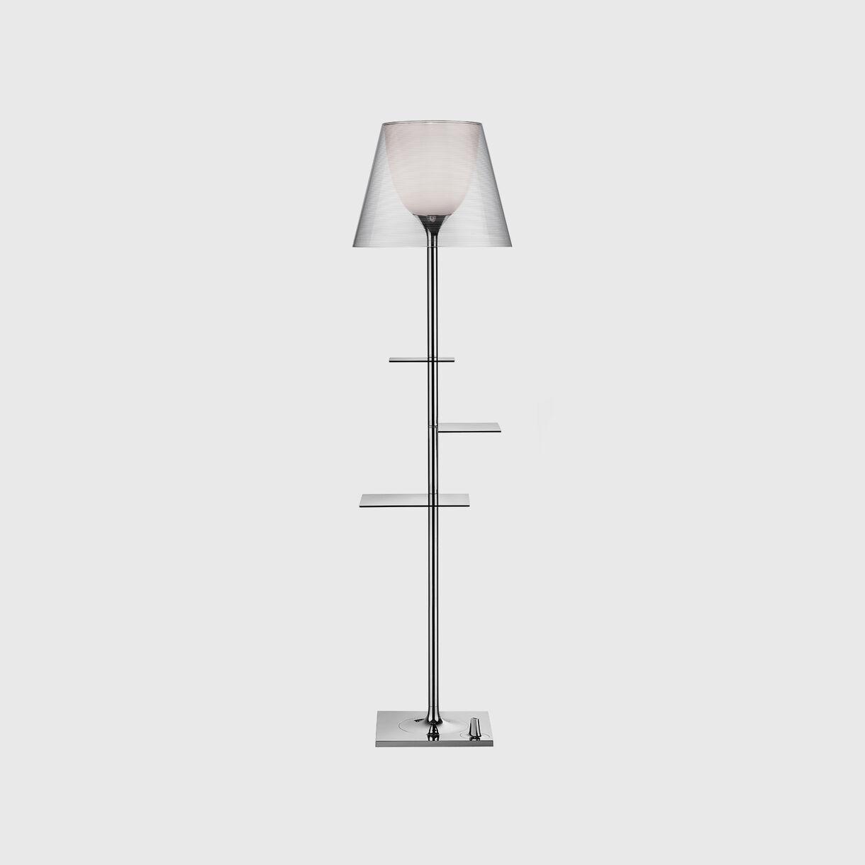Bibliotheque Nationale Floor Lamp, Transparent