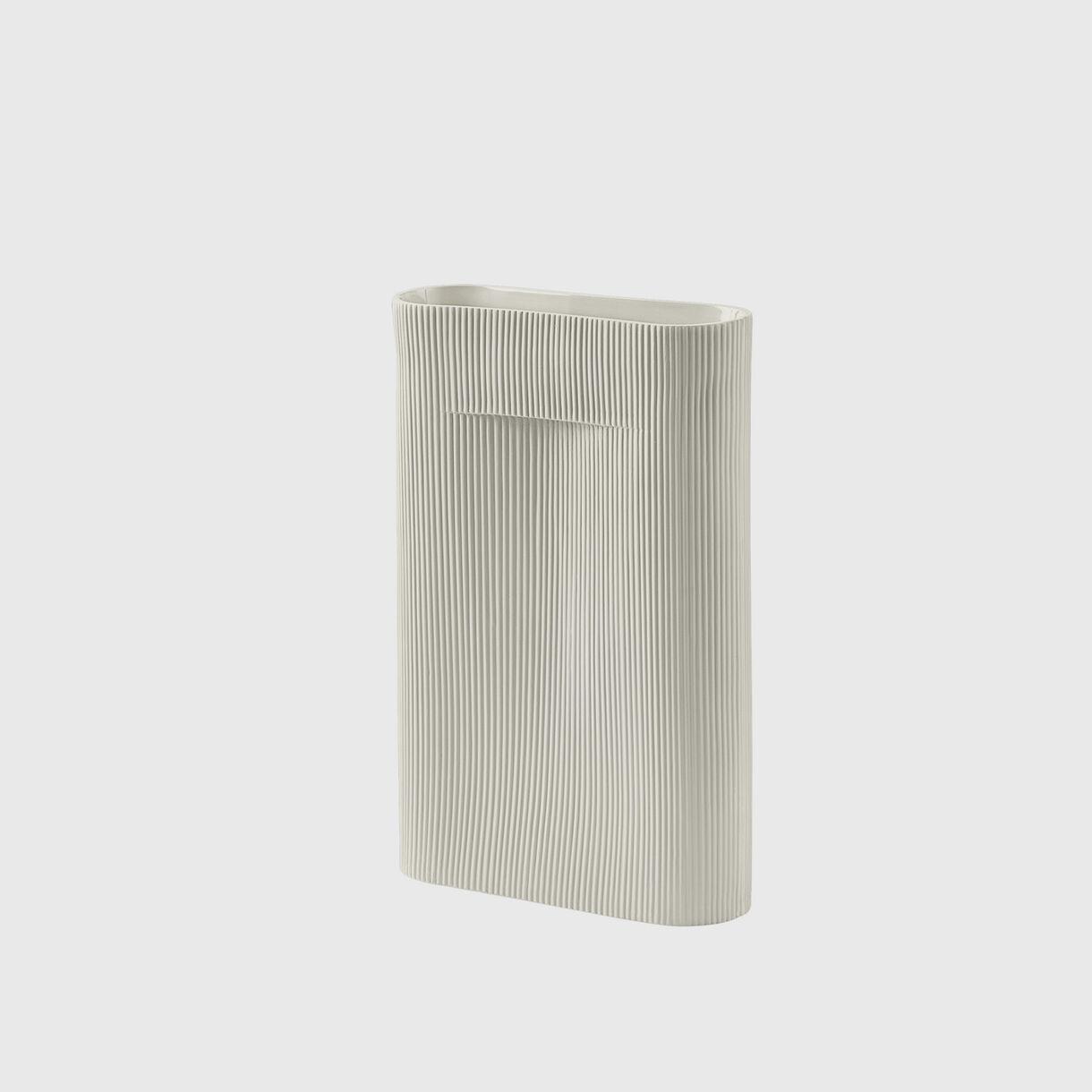 Ridge Vase, Large, Off-White