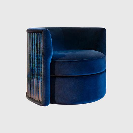 Blue Pheasant Swivel Chair
