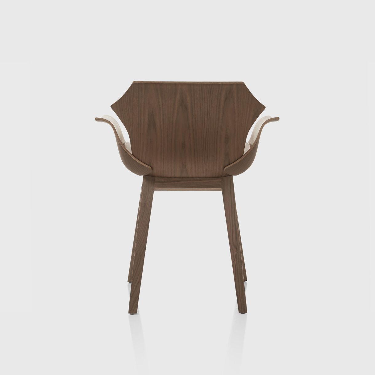 Petal Armchair, Walnut