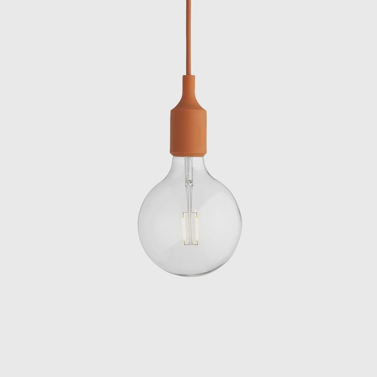 E27 Pendant Lamp, Orange