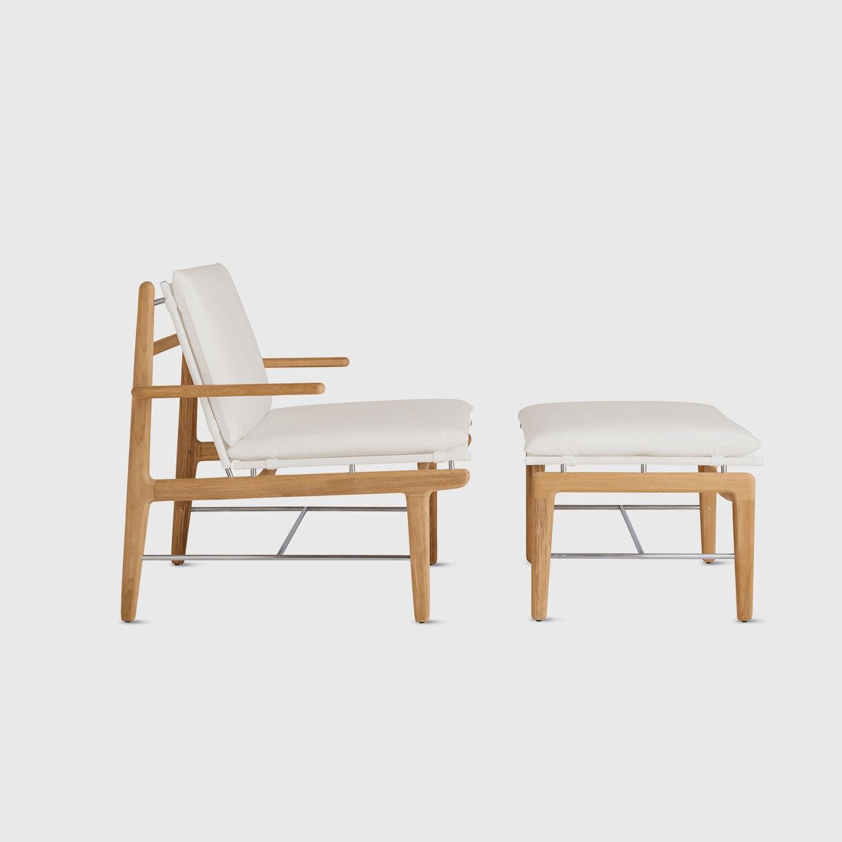 Finn Lounge Chair, White