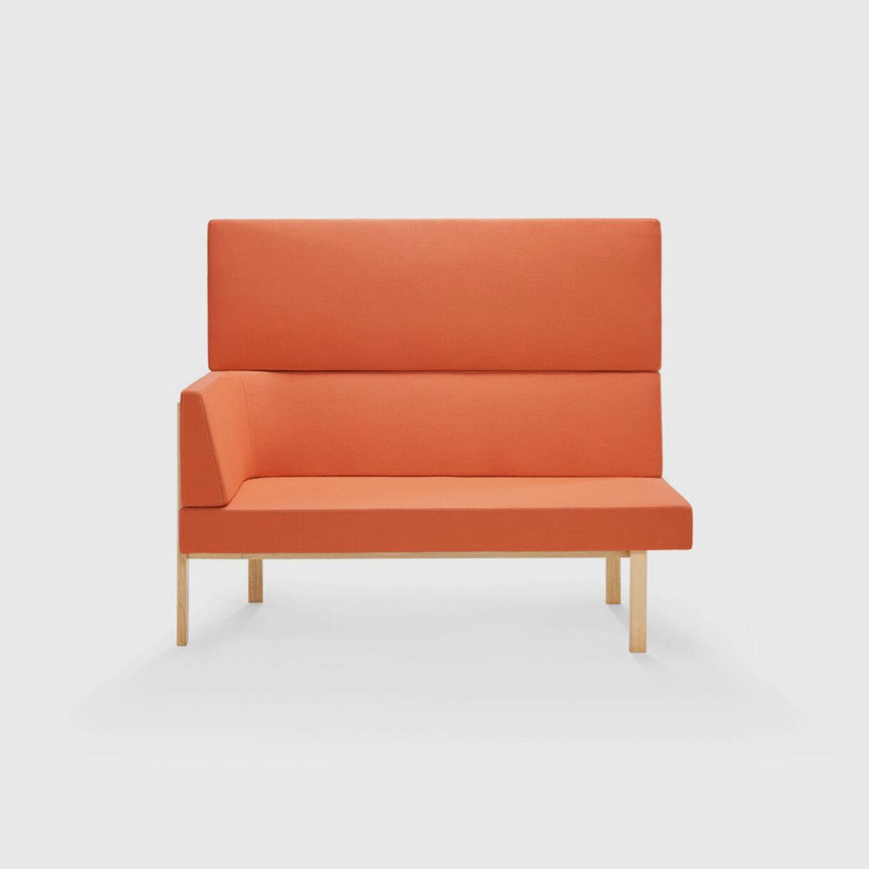 Homework Highback Chaise Lounge, Orange