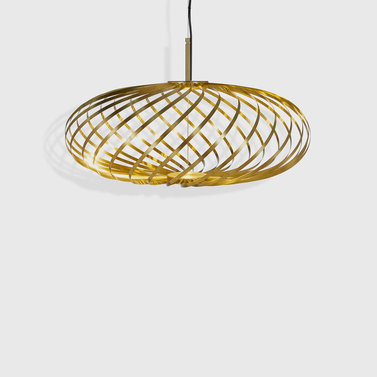 Spring Pendant, Small, Brass