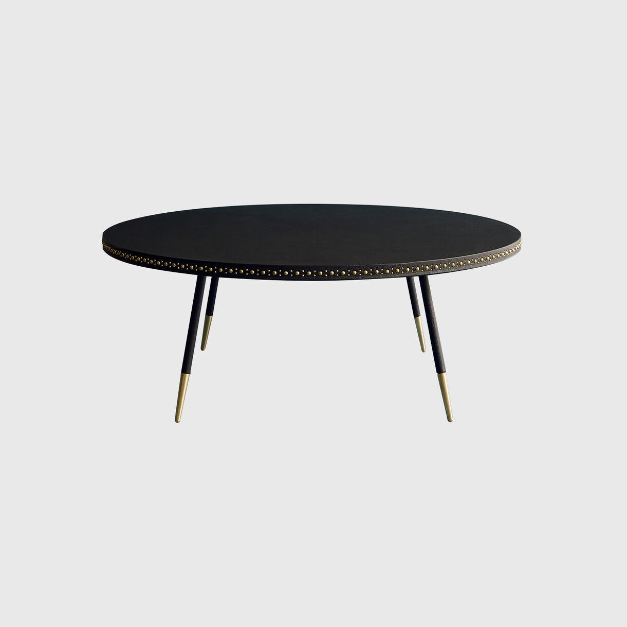 Stud Coffee Table, Black & Brass