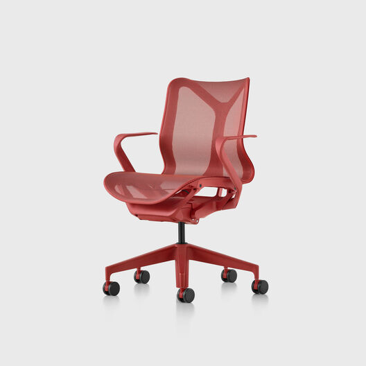 Cosm Chair, Canyon, Low Back, Fixed Arms