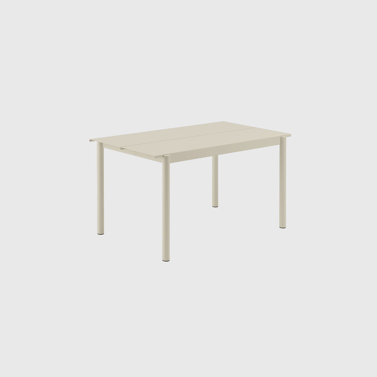 Linear Steel Table Small, Off-White