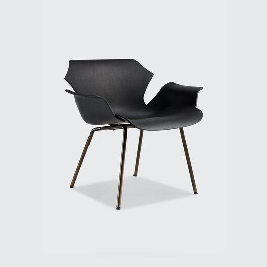 Petal Lounge Armchair with Metal Base