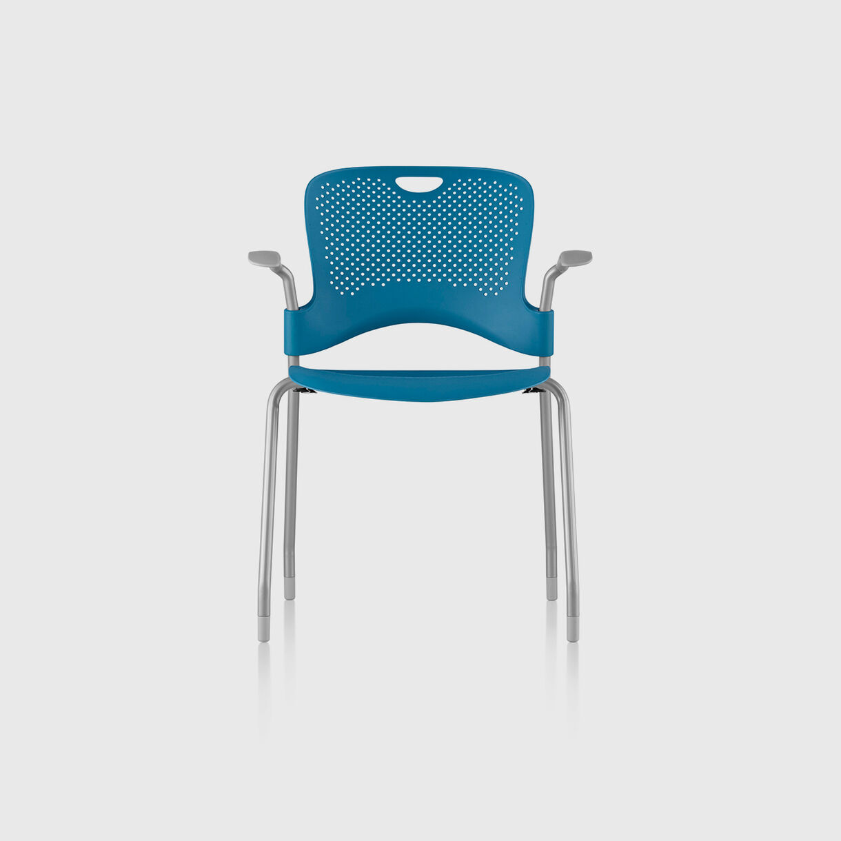 Caper Stacking Chair, Berry Blue