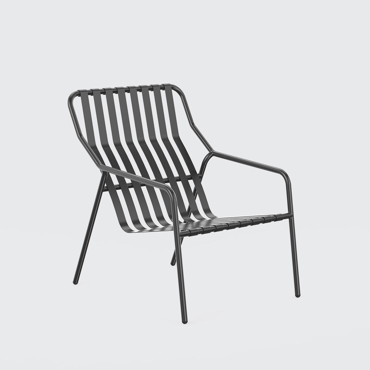 Strap Lounge Chair, Black