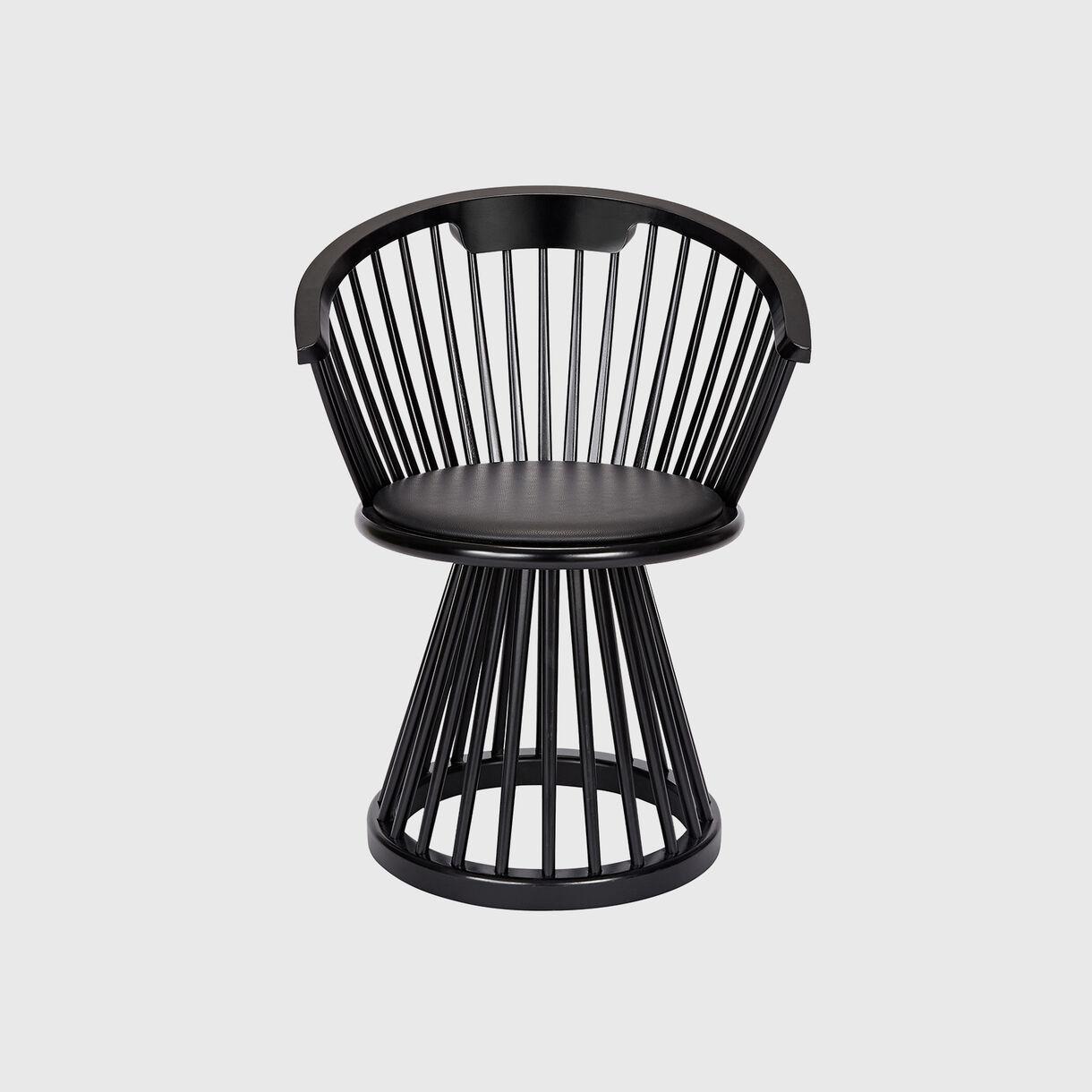 Fan Dining Chair, Black