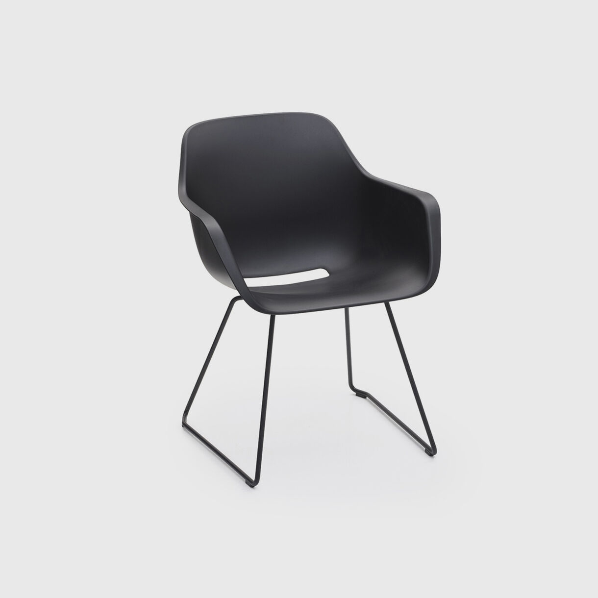 Captain's Sliding Chair, Black