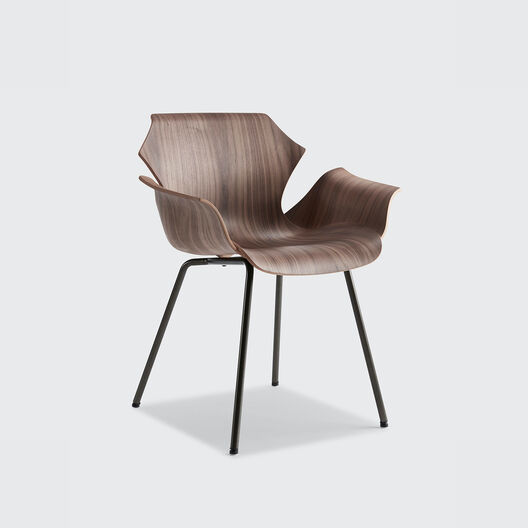 Petal Armchair with Metal Base