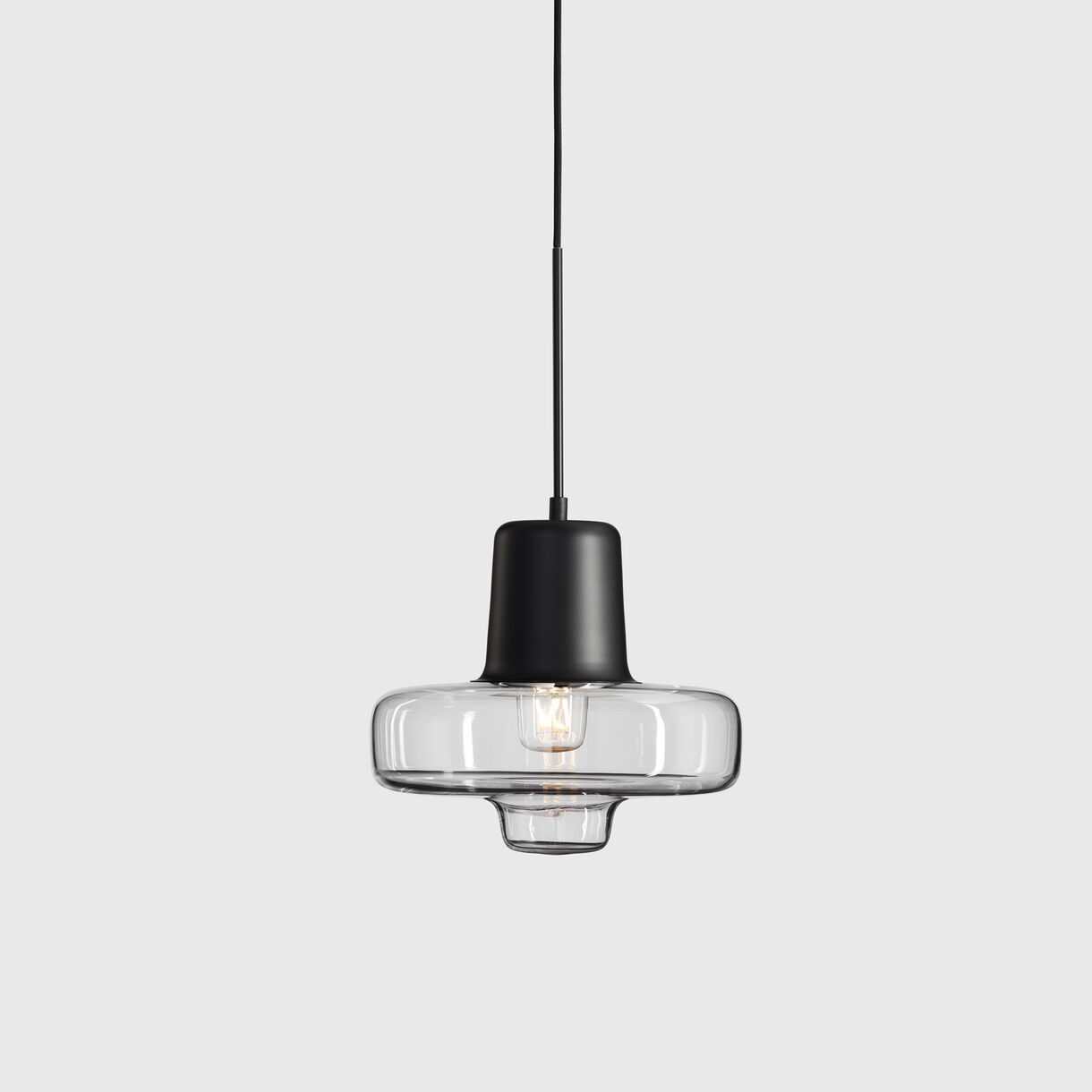Spin Pendant Lamp, Small, Black