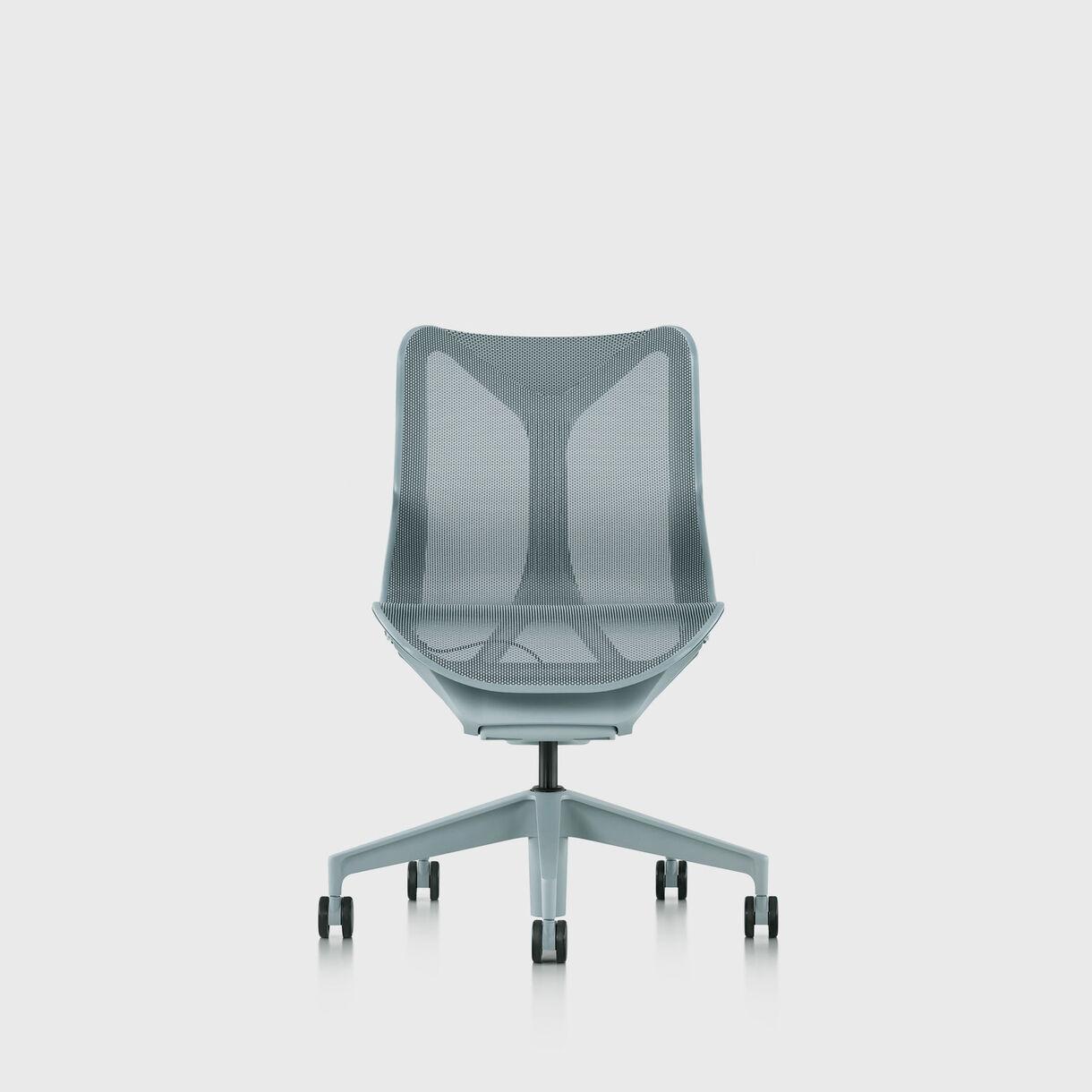 Cosm Chair, Glacier - Low Back - No Arms
