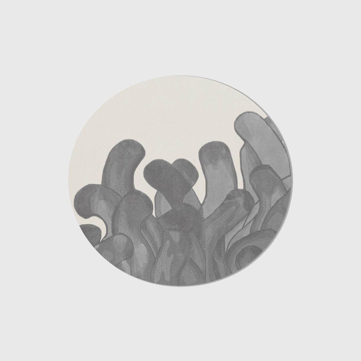 Anemone Rug, Round, Grey