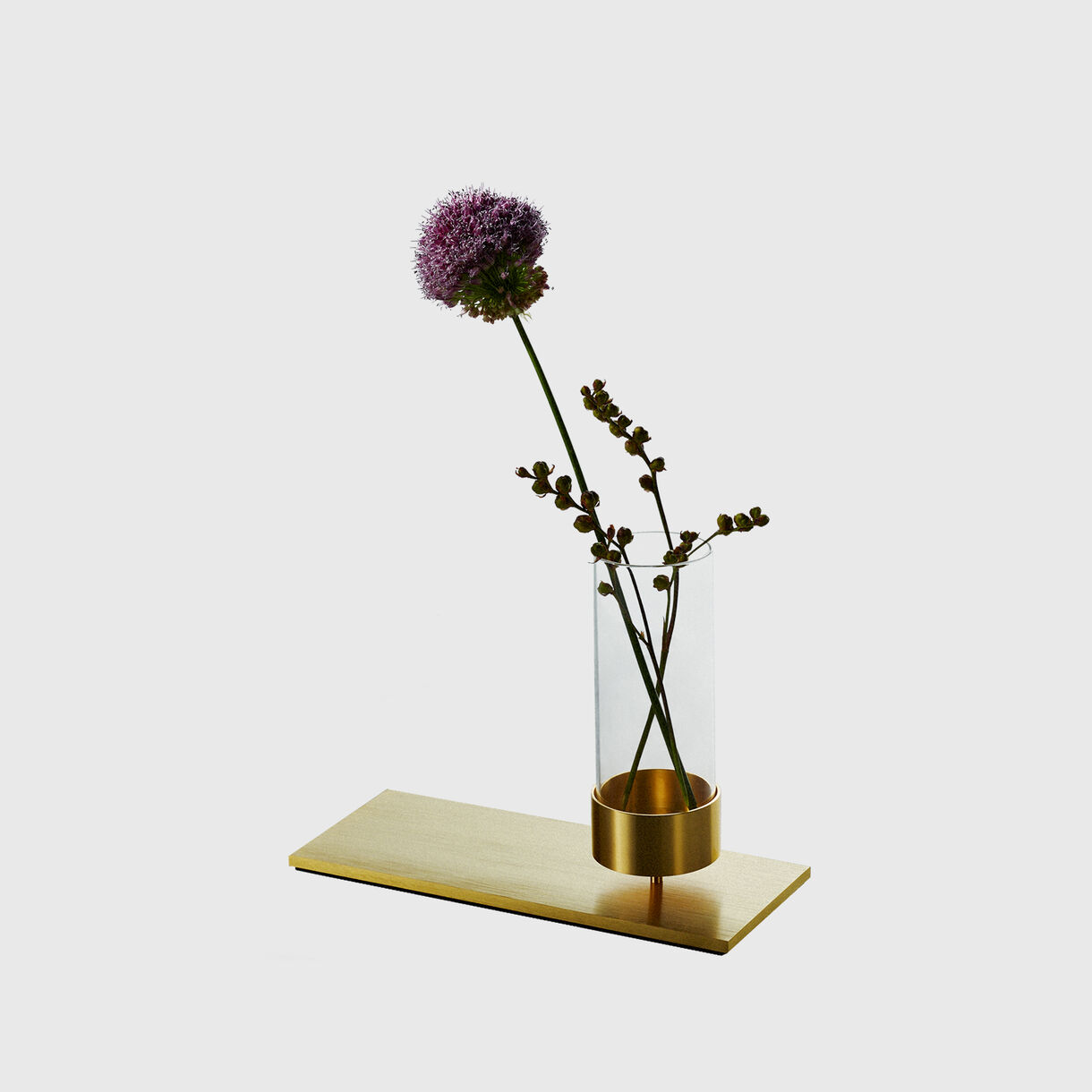 Machined Vase, Brass