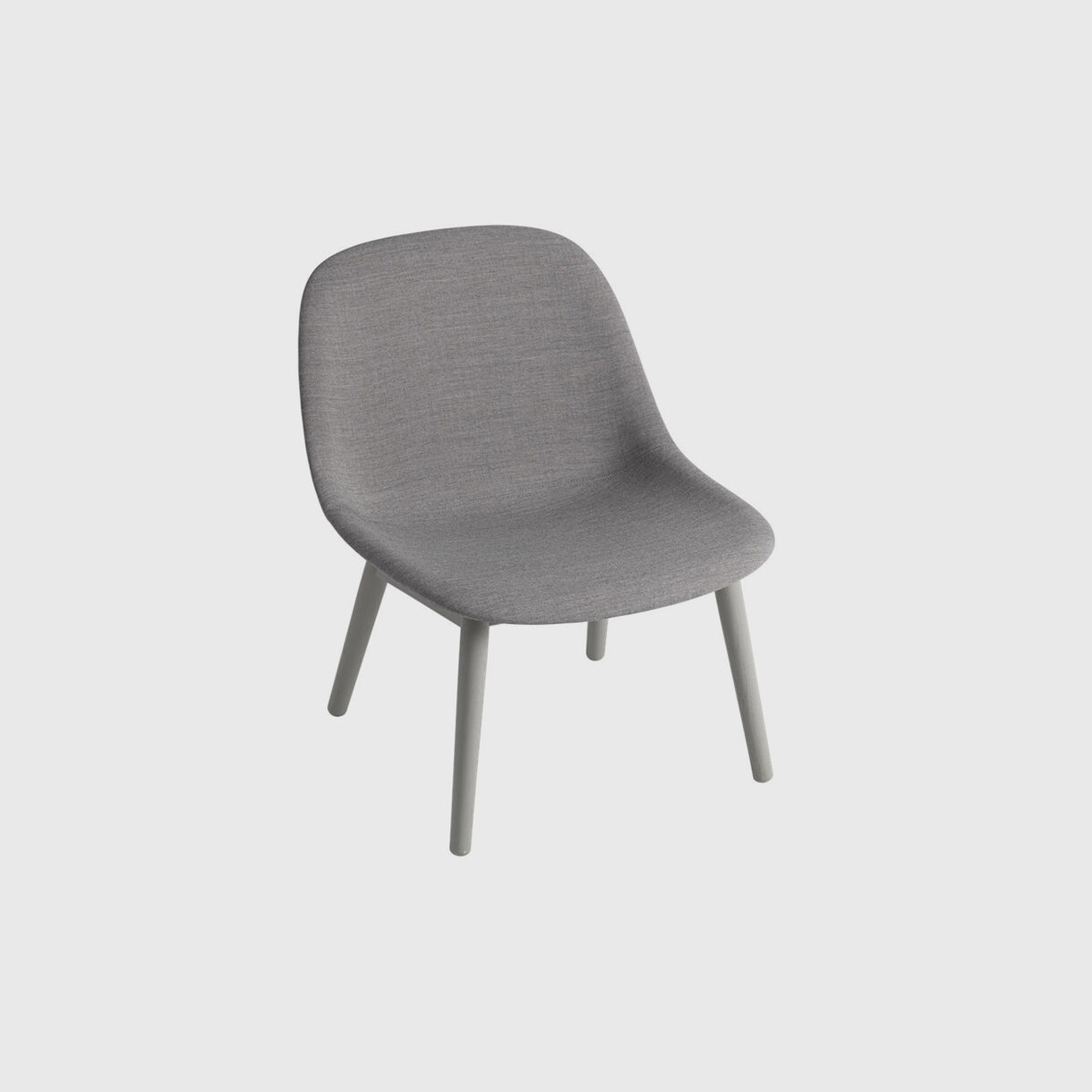 Fiber Lounge Chair Wood Base, Upholstered, Remix 133