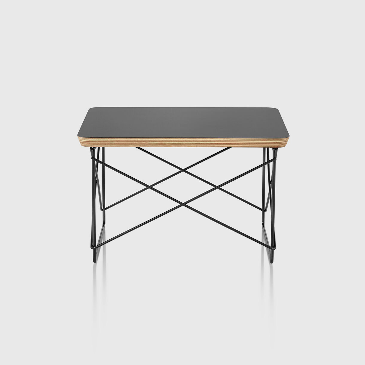 Eames Wire Base Low Table, Black