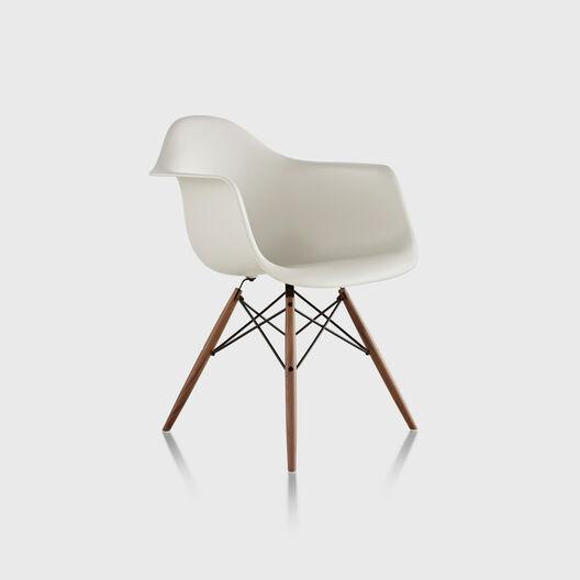 Eames® Moulded Plastic Armchair, Dowel