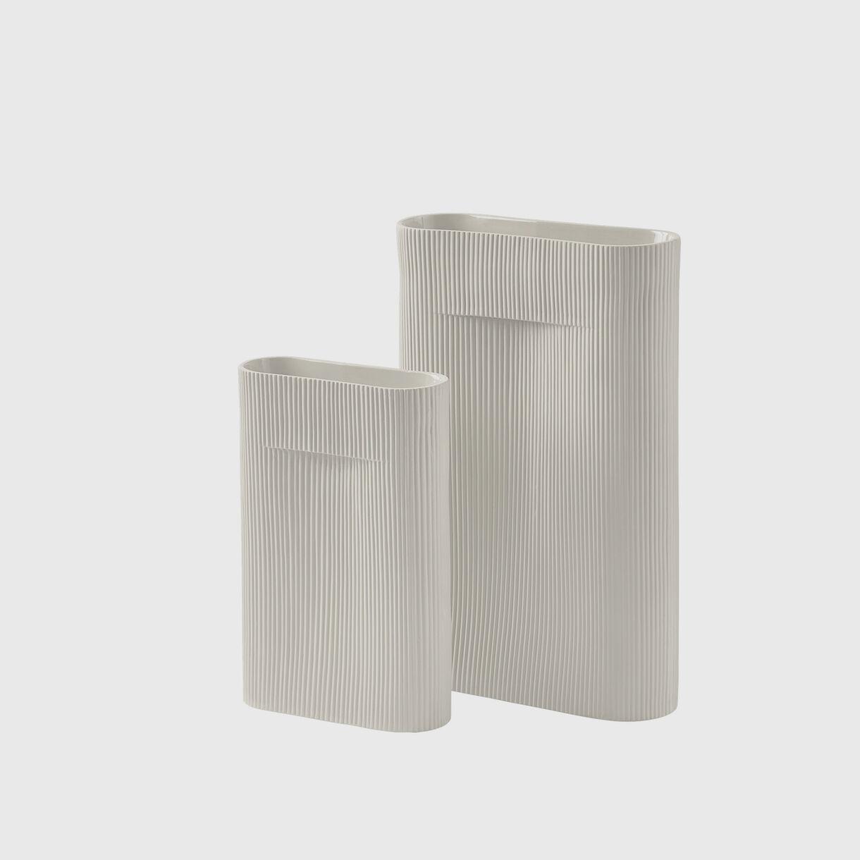 Ridge Vases, Off-White