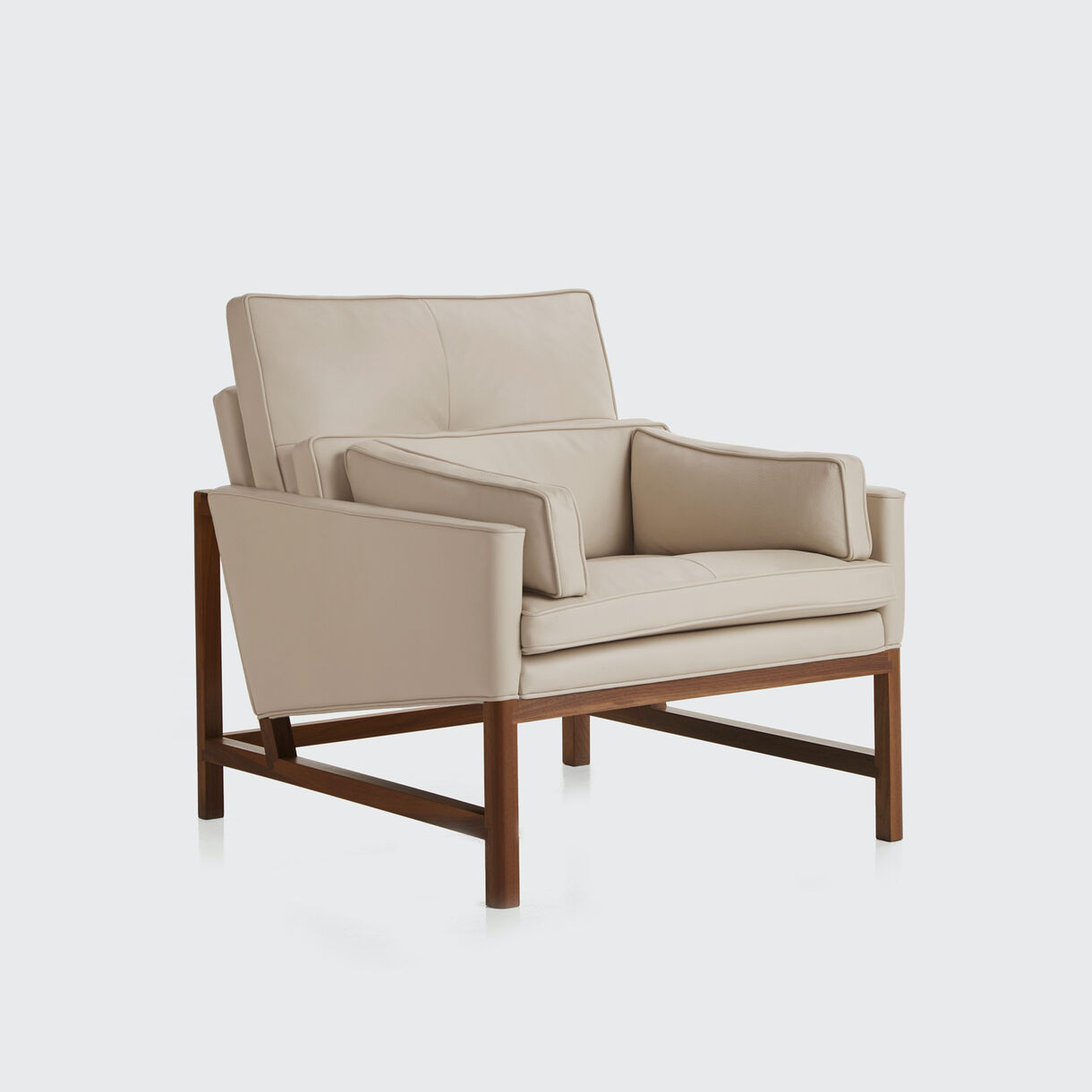 Wood Frame Low Back Lounge Chair