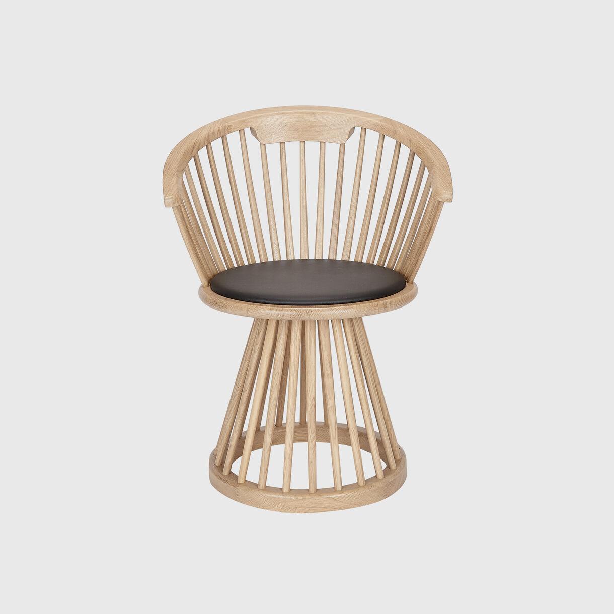 Fan Dining Chair, Natural Oak
