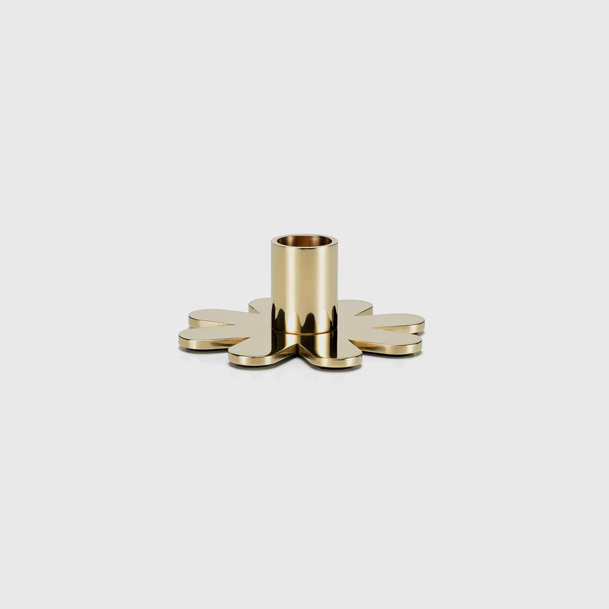 Girard Brass Candle Holder, Petal