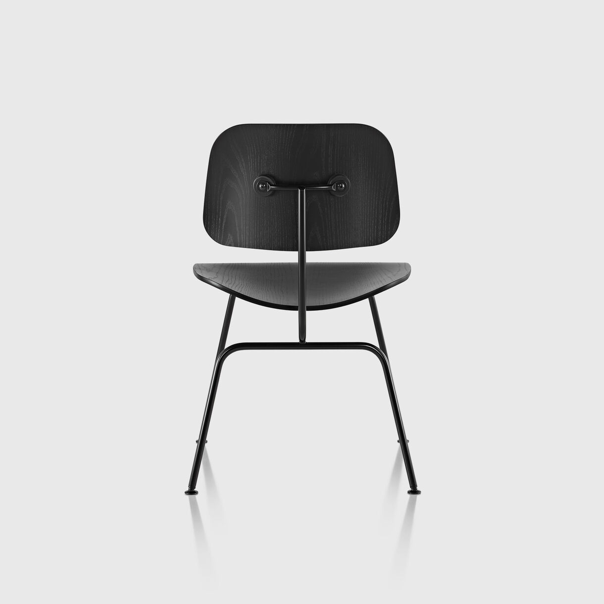 Eames Moulded Plywood Dining Chair, Metal Base, Ebony