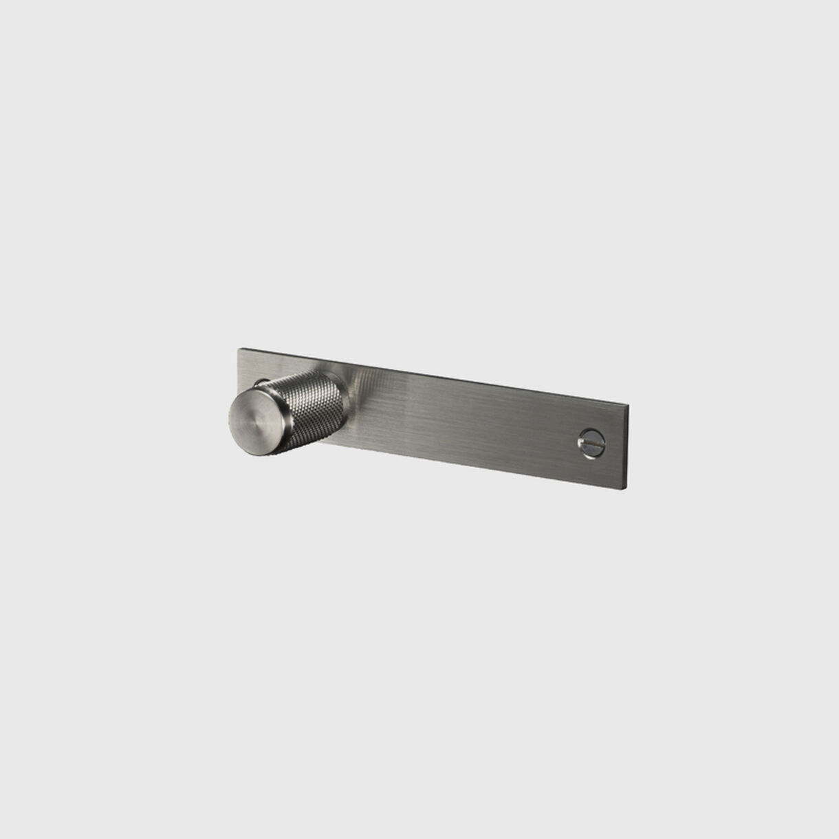 Furniture Knob with Plate, Steel