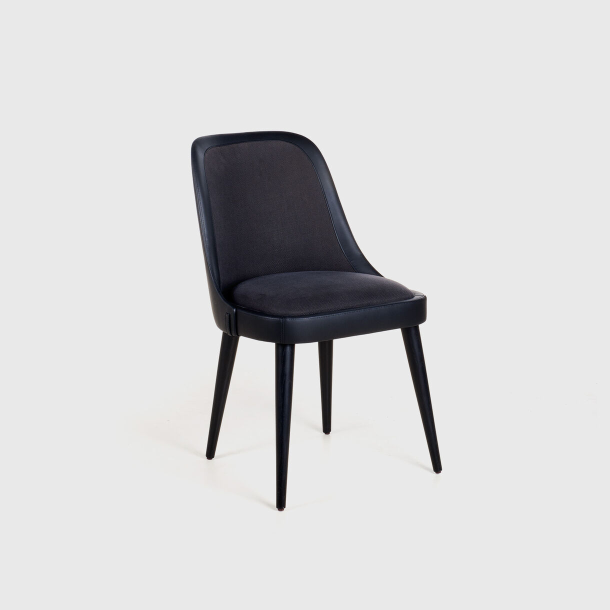 Laval Leather Chair, Remix 183 & Saddle Leather