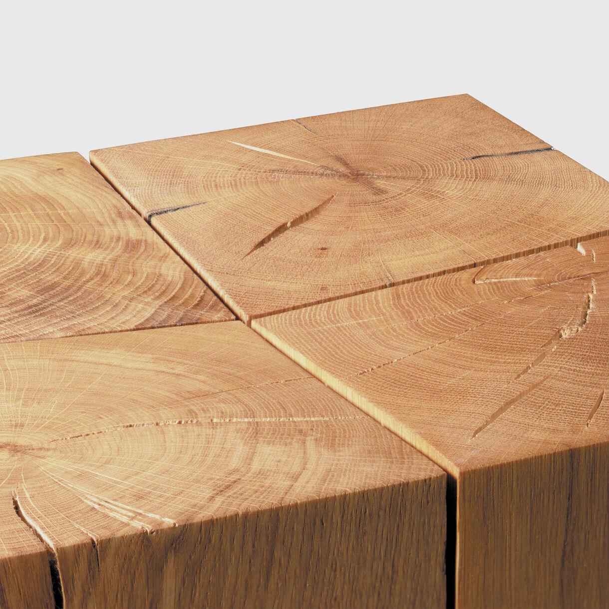 Backenzahn Stool in Oak Detailing