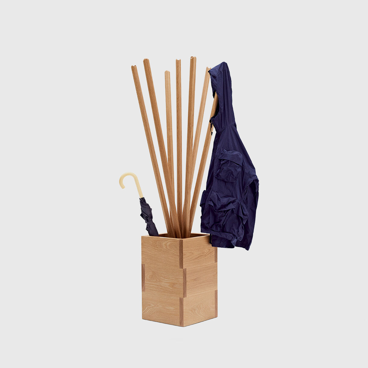 Baguette Umbrella & Coat Stand, American Oak