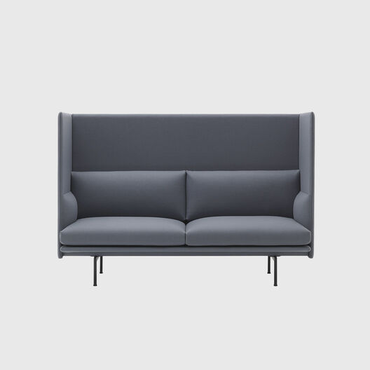 Outline Highback Sofa, 2 Seater