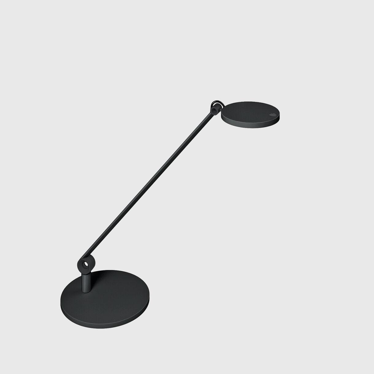 Para.mi Task Lamp, 1-Piece Arm, Round, Black