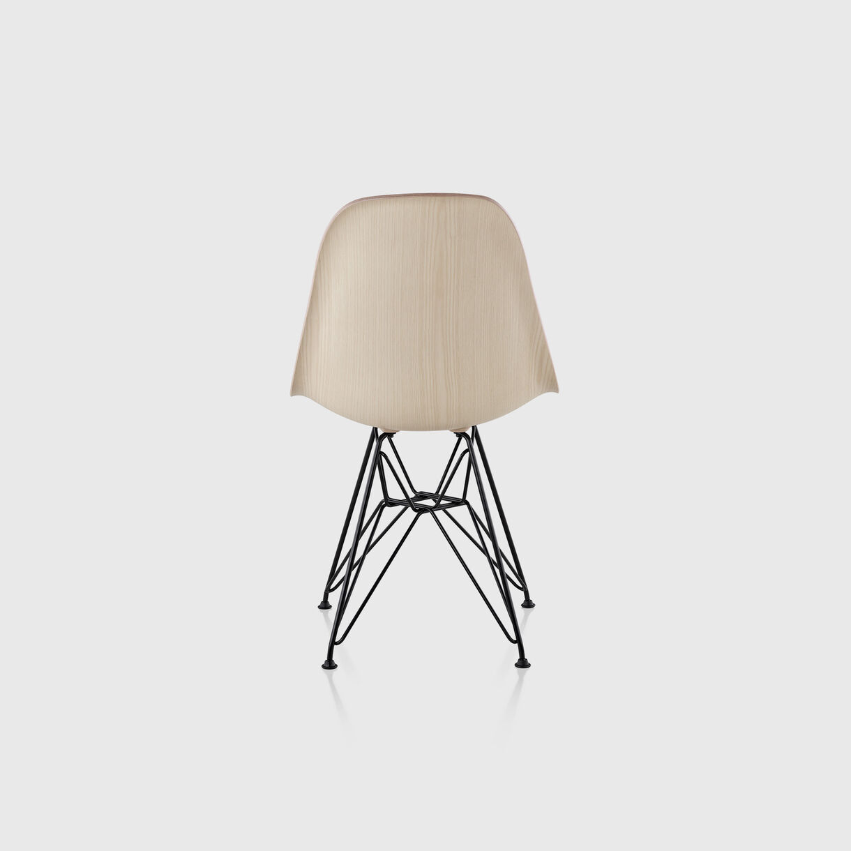 Eames Moulded Wood Side Chair, Wire Base