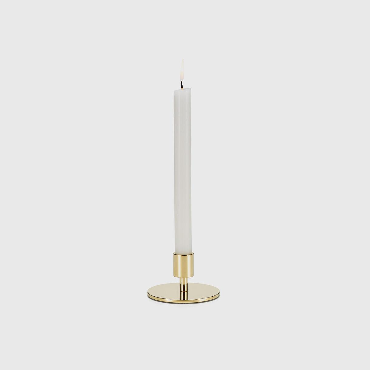 Girard Brass Candle Holder, Circle High