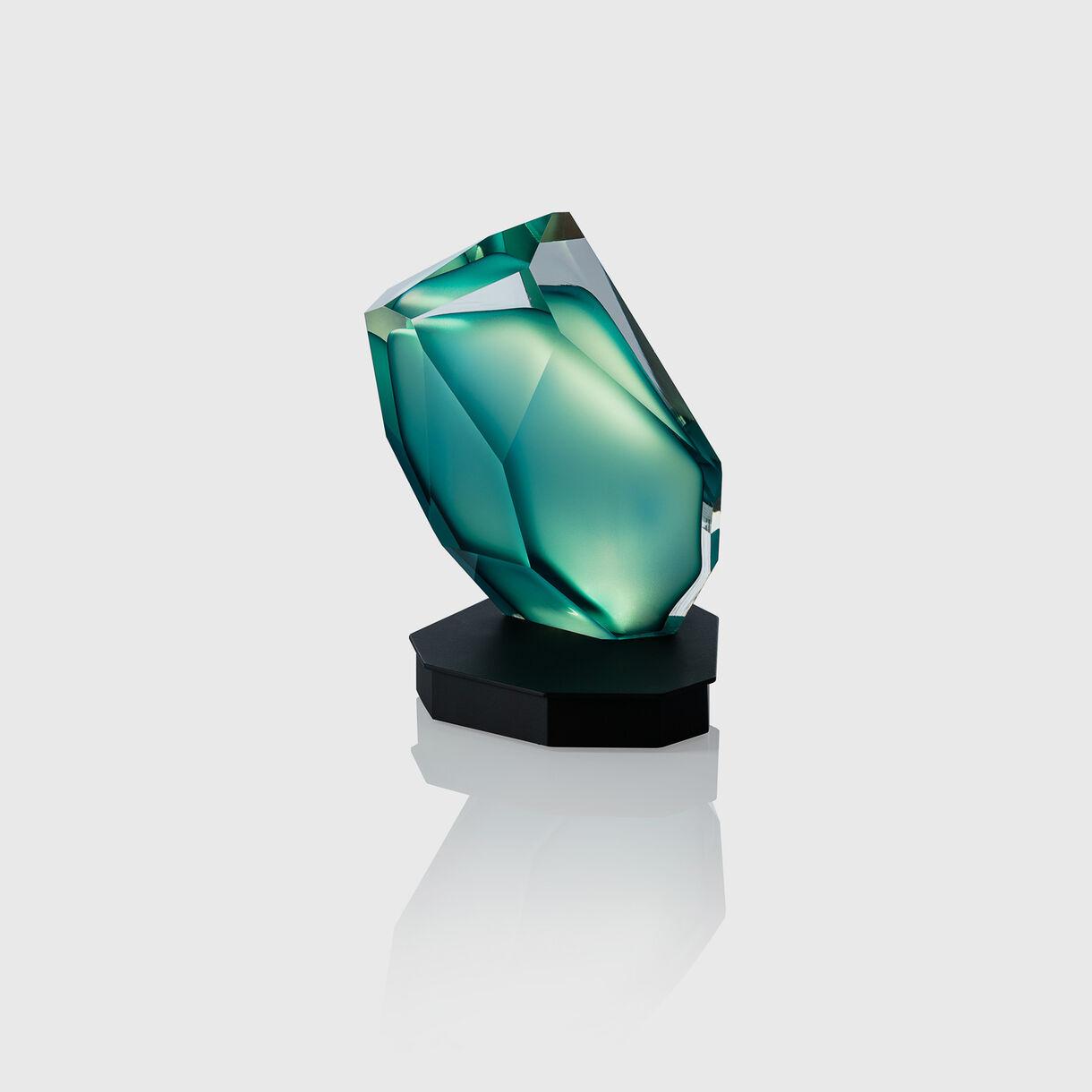 Crystal Rock Table Lamp, Blue